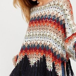 Free People oversized poncho size xs/s